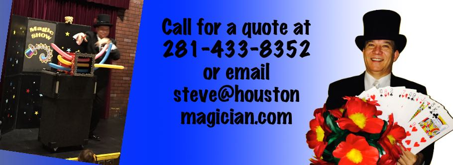 houston magician birthday party
